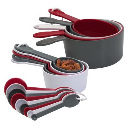 Measuring Spoon Set in red and grey (from Target). Think of Chapman University when you cook!