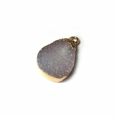 New geodes drop charm New collection semiprecius stones fw 2015 jewelry materials