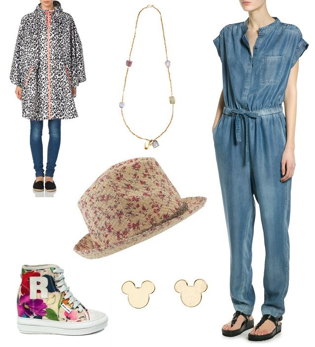 Raincoat: Vero Moda, necklace: Monsoon, hat: Parfois, overalls: Mango, shoes: Ruco Line, eearings: H&M   Festival Wear - Flow Helsinki Shopping Route http://shoptrotter.com/users/shoptrotters/routes/vero-moda-to-vero-moda-2014-06-26/