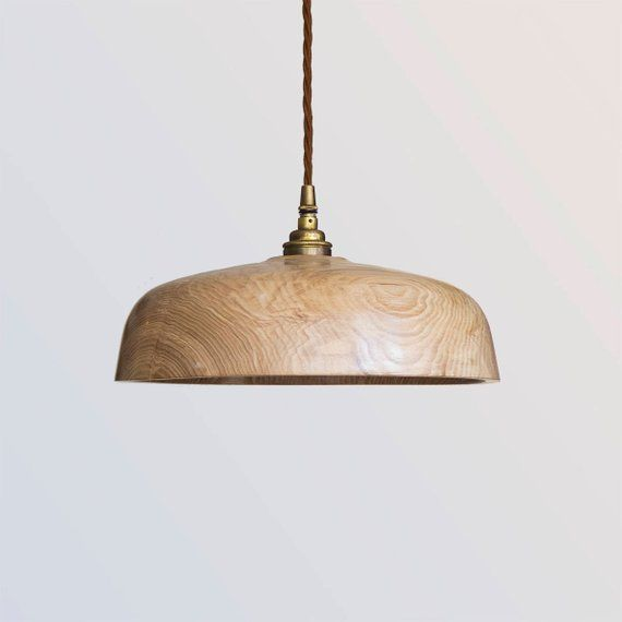 Wood Lampshade Wooden Pendant Light Fitting Hygge Lighting
