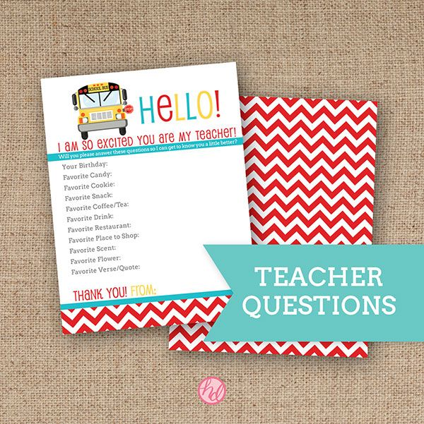 Back to school teacher questionnaire