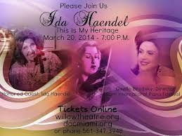 """""""The Grande Dame of the Violin,"""" Ida Haendel at DocNights at Willow"""