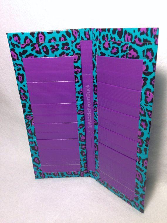 Blue Leopard Duct Tape Damen Geldbörse