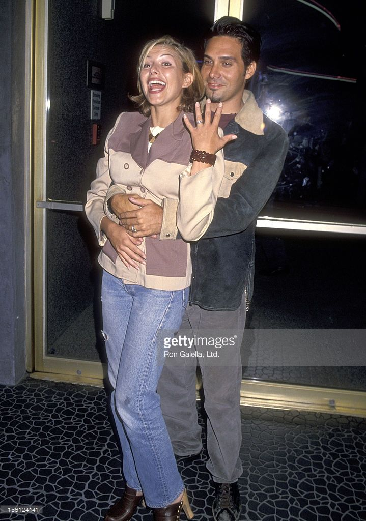 Actress Kari Wuhrer and boyfriend Daniel Salin attend the 'Marvin's Room' Opening Night Performance on September 22, 1994 at Tiffany Theater in West Hollywood, California.