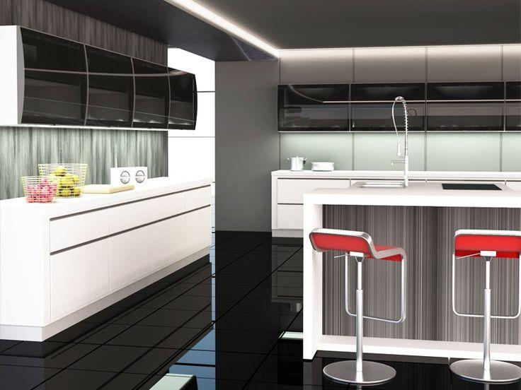 Kitchen Cabinet Modern Mixer Luxury Cabinets Doors Gl Image