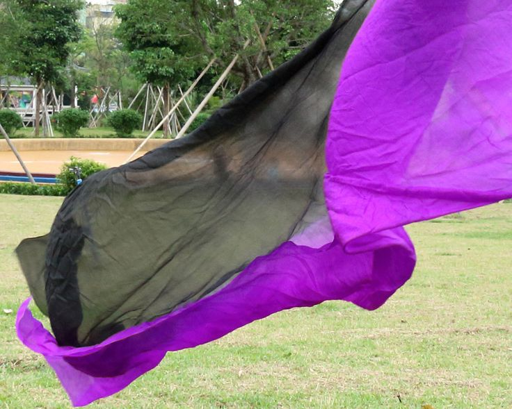 2016 design 100% real silk belly dance veil, cheap dance veils,tari perut kostum veil wholesale 250*114cm black+purple