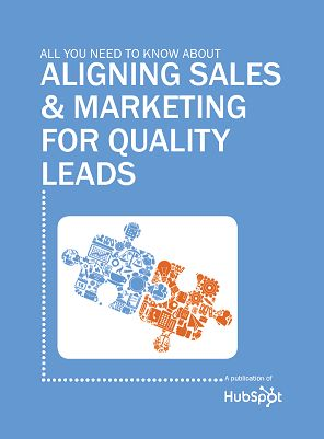All You Need to know about Aligning Sales & Marketing for Quality Leads  http://www.hubspot.com/All-You-Need-to-Know-about-Aligning-Sales-and-Marketing/
