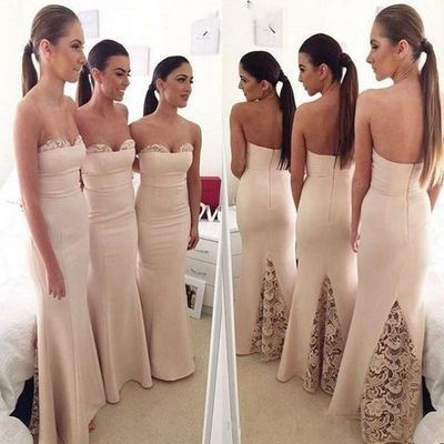 sweet heart bridesmaid dresses, champagne bridesmaid dress, http://www.storenvy.com/products/17322141-long-bridesmaid-dresses-mermaid-bridesmaid-dresses-sweet-heart-bridesmaid