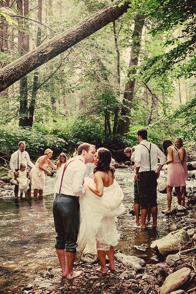in the woods wedding