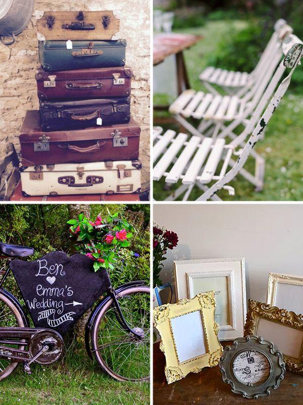 Vintage tea party wedding inspiration // Vintage wedding props // The Natural Wedding Company