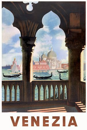 Venice Italy  _________________________ #Vintage #Travel #Poster