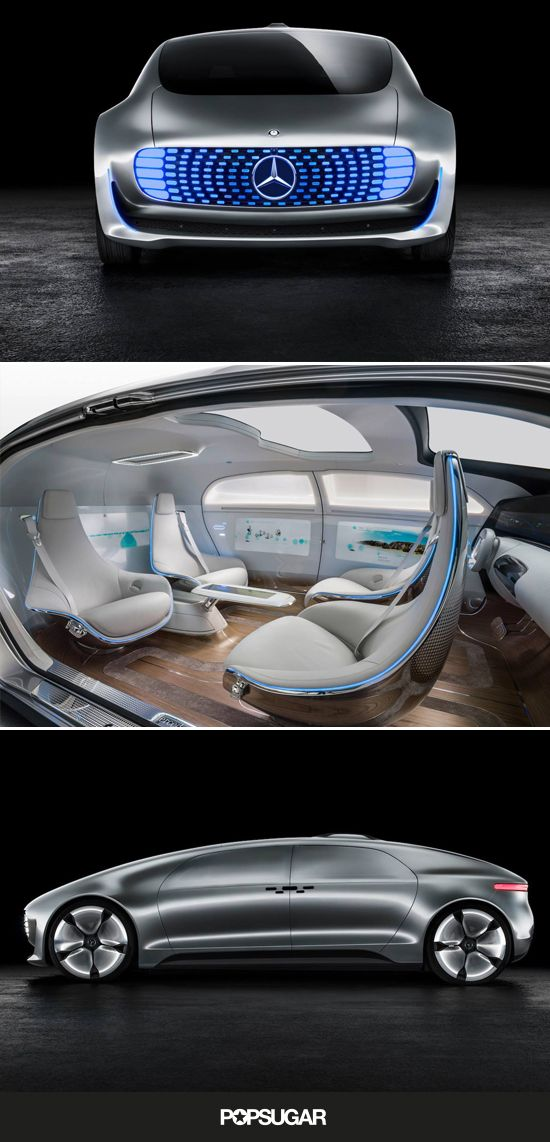 The Mercedes-Benz self-driving concept car looks real good.