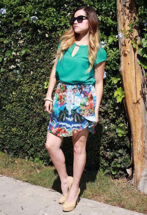 Tropical skirt!  , Zara in Skirts, Zara in Shirt / Blouses, Capa De Ozono in Heels / Wedges