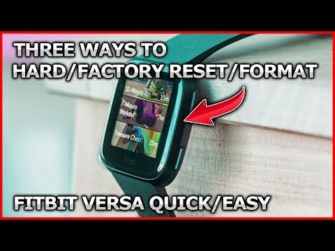 Format/factory/hard reset fitbit versa OR erase just the data from