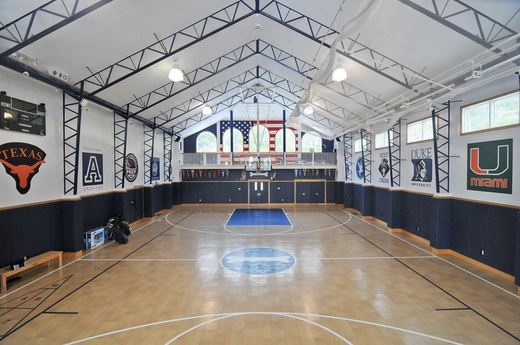 1000 images about killer basketball courts on pinterest for Home basketball court size