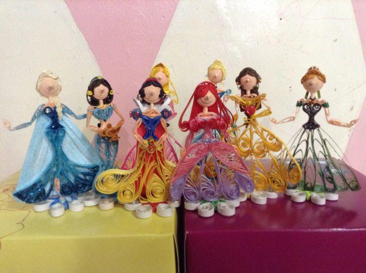 Paper Quilled Disney Princesses