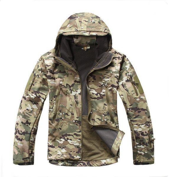 Tactical / Hunting Softshell Camouflage Jacket - CP Camo
