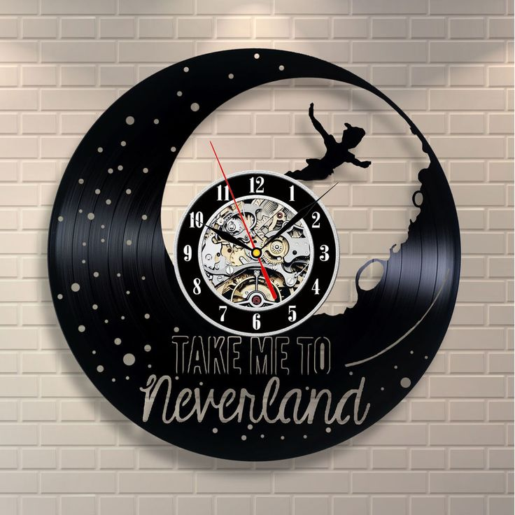 Peter Pan vinyl clock