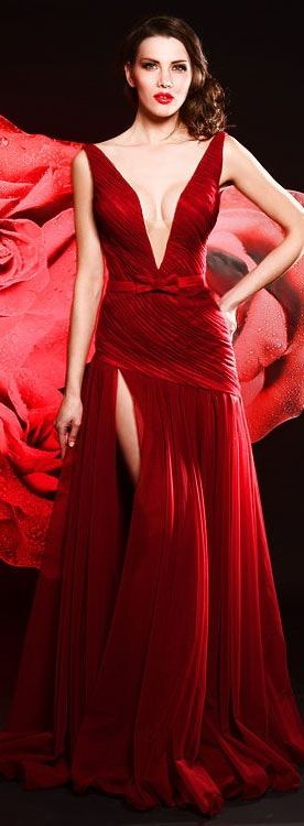 Bien Savvy - Rochii de Seara - Roses & Shoes - Spanish Rose red sexy gown