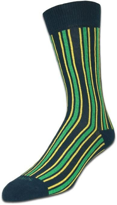 Thick & Thin Navy/Green Stripe