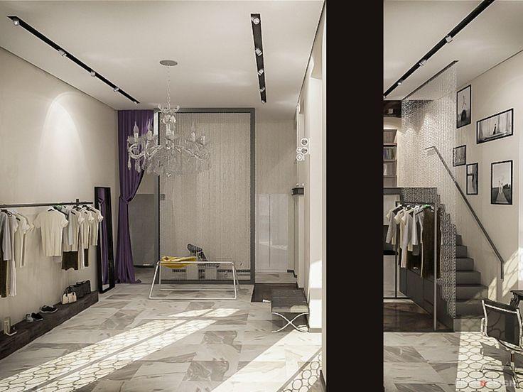 Дизайн интерьера бутика-ателье #interiordesign