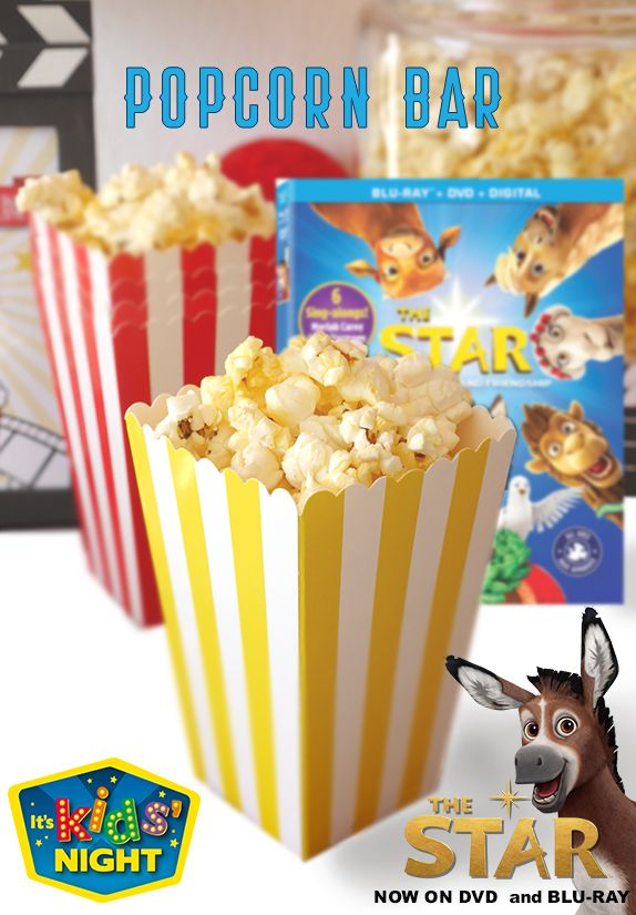 DIY Popcorn Bar! Pick up everything you need at Walmart. #TheStarMovie