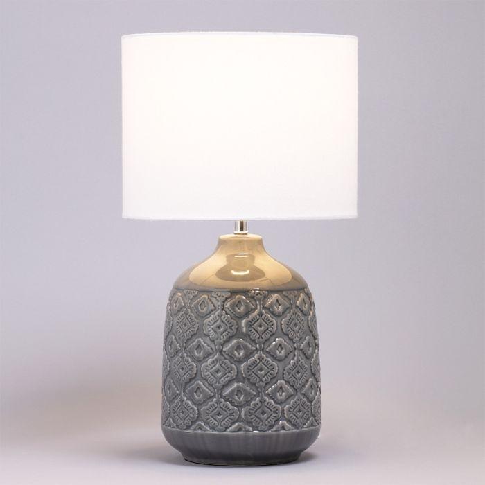 Cosgrove Patterned Ceramic Table Lamp Dark Grey Ceramic Table Lamps Table Lamp Ceramic Table