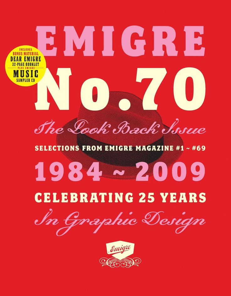 RUDY VANDERLANS. Emigre No.70. The Look Back Issue. Selections from Emigre magazine #1 - #69.