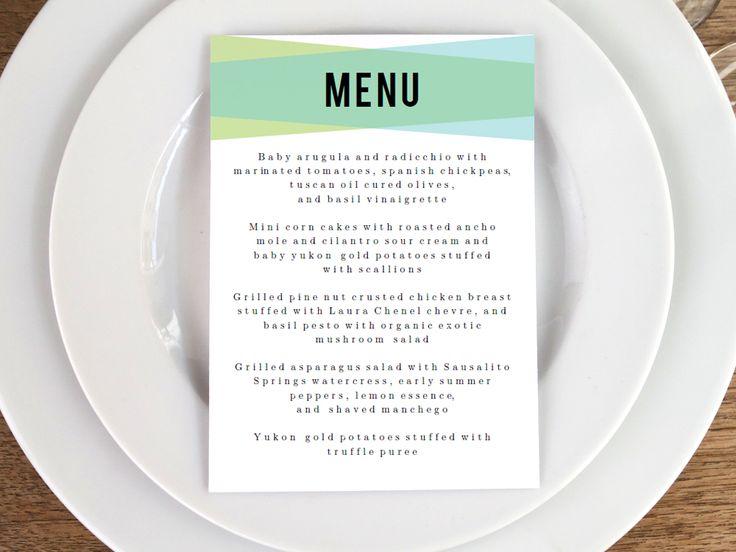 49 best Printable Wedding Menu Templates images on Pinterest - wedding menu template