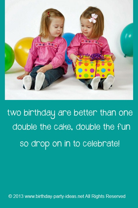 80 Best Images About Twin Birthday Party Themes On