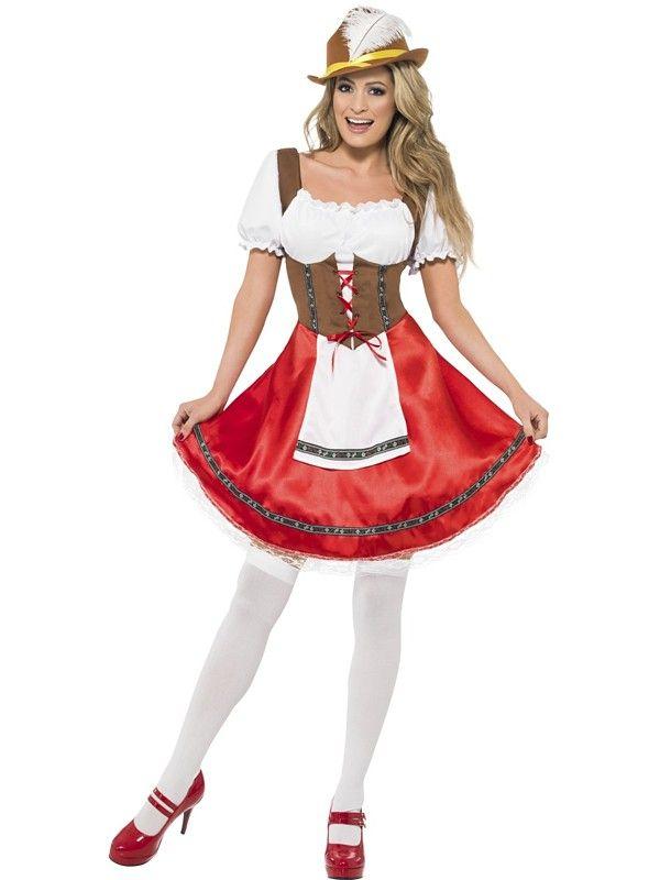 Tyrolerkjole Bavarian Wench - Oktoberfest kostyme for voksne