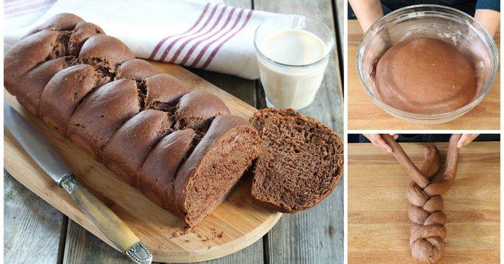 Rezept für vegane Schokoladen-Brioche ohne Butter und Ei!