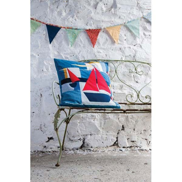 Cornish Wave Cushion Quilt Pattern Download, Jo Colwill