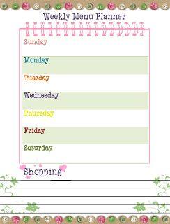 Our Way to Learn: Weekly Menu Planner {free printable!}