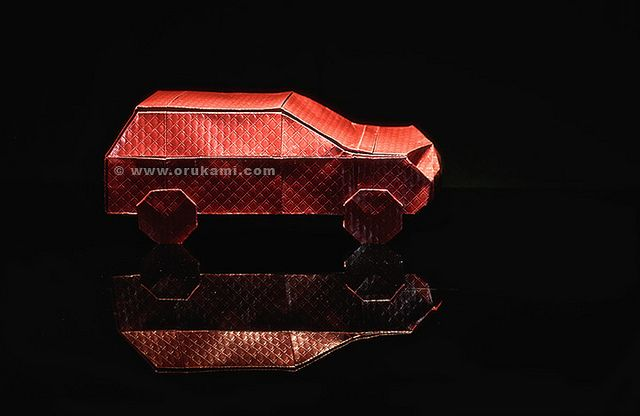 Robert Lang Origami Car. Folded and Photographed by Himanshu Agrawal.