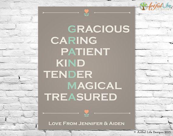 Personalized Grandmother Gift Print Grandma by ArtfulLifeDesigns