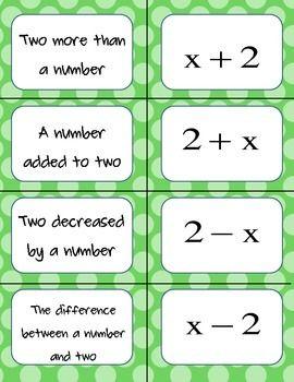 how to translate algebraic expressions