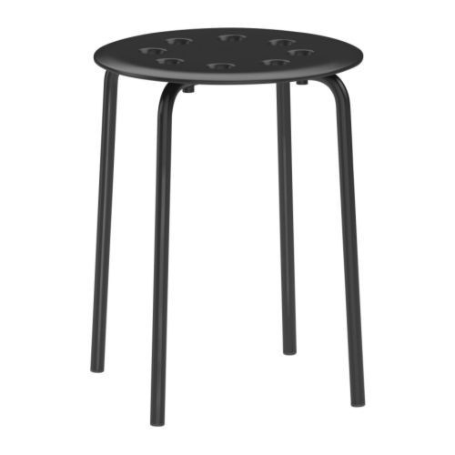 $5.99 MARIUS Stool - black  - IKEA Designsponge tip: buy and use the legs for a DIY side table. Will use scrap wood we already have on hand for the tabletop. This will be perfect for that spot in the living room where we need a tiny table... I haven't been able to find anything that fits!