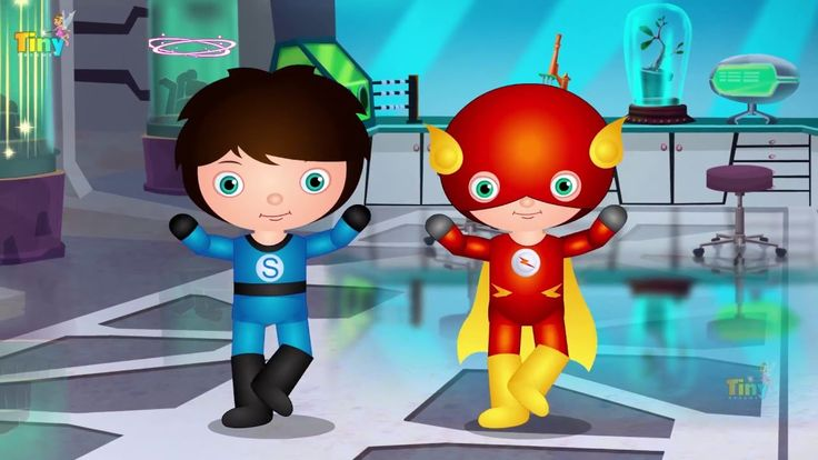 5 Little Heroes  Jumping on the bed - Super Heroes version! | for kids