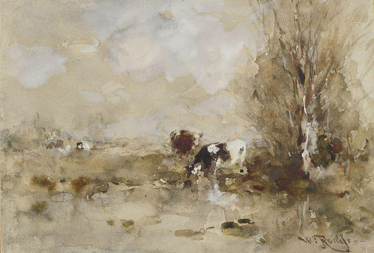 Koeien bij het water, Willem Roelofs, 1897, Amsterdam Museum.