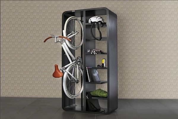 Bookshelf Bike Rack... Love the concept... Not loving the $3600 price tag. I guess I will have to come up with my own.