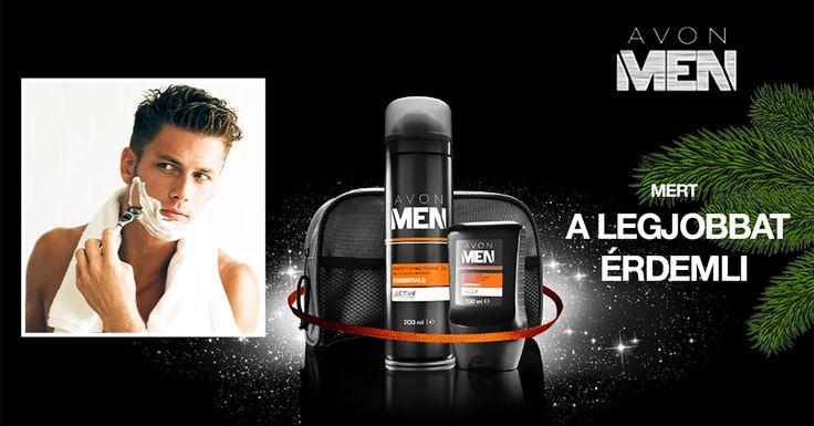 Remek meglepetés a férfinak, aki a legjobbat érdemli! Szerezd be most kedvezményes áron az AVON MEN kozmetikumokkal!