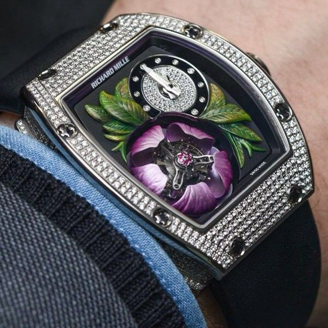Richard Mille RM 19-02 Tourbillon Fleur Watch Hands-On - by Patrick Kansa - see the flower's petals open and close in the video.
