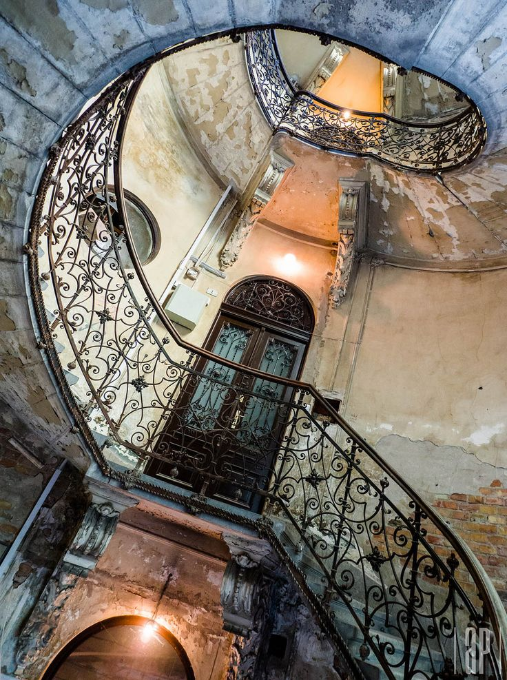 teleport by A. P. - Abandoned staircase, Budapest