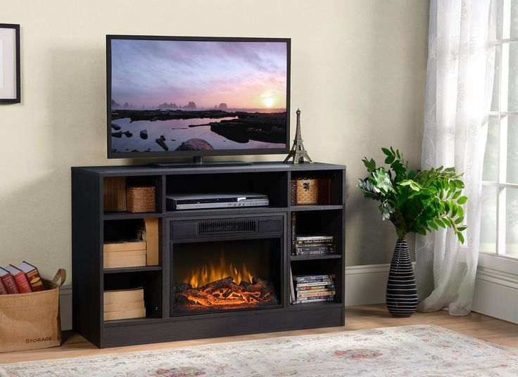 best 25 electric fireplace tv stand ideas on pinterest. Black Bedroom Furniture Sets. Home Design Ideas