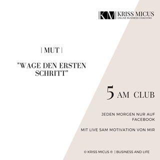 Es gibt etwas, das du ändern/ erreichen/ machen möchtest?  Dann wage heute den ersten Schritt!  Schreib' mir gerne, was es war :.-D . . . . . . #mut #ersterschritt #anfangen #5am #5amclub #km5amclub #earlybird #morning #miraclemorning #BusinessMama #OnlineBusiness #Mompreneur #KrissMicus #Coaching #BusinessCoach #BusinessCoaching #BeyourownBoss #BossBabe #GirlBoss #MOMBoss  #Entrepreneur #Mindset #Selbststaendig #OnlineBusinessCoaching #Unternehmerin #Freiberufler #BusinessLifestyle #hustle…