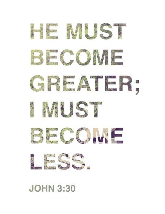 JOHN 3:30 - Bible Verse Print via Etsy