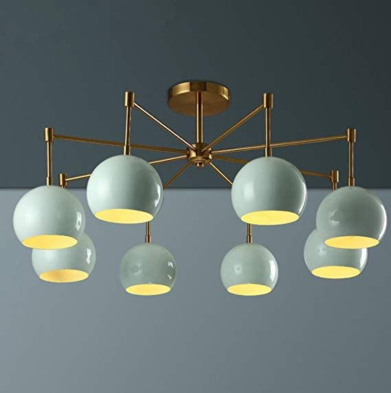 Retro Industrial Black Spider Light Fitting with 8 Sockets for Living Room Restaurant Dining Room Coffee Shop Vintage Ceiling Light