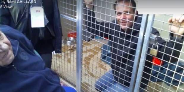 Au bord des larmes, Rémi Gaillard reste dans sa cage de la SPA de Montpellier (VIDEOS)