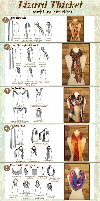 DIY Scarf Styles. #winter #fall #scarf